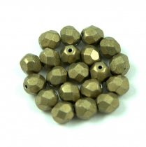 Cseh csiszolt golyó gyöngy - saturated metallic golden lime - 6mm