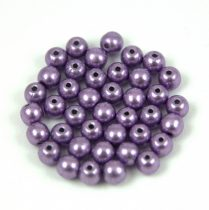 Czech Pressed Round Glass Bead - saturated metallic ballet slipper - 4mm