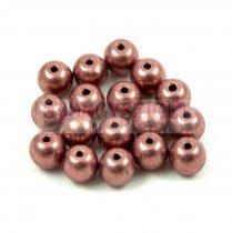 Cseh préselt golyó gyöngy - Saturated Metallic Autumn Maple - 6mm