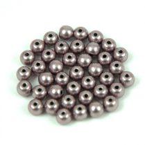 Cseh préselt golyó gyöngy -  saturated metallic almost mauve - 4mm