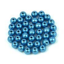 Cseh préselt golyó gyöngy - saturated metallic little boy blue - 4mm