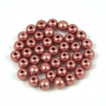 Cseh préselt golyó gyöngy - saturated metallic blooming dahlia - 4mm