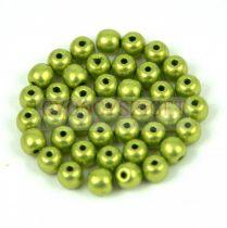 Cseh préselt golyó gyöngy - Saturated Metallic Lime Punch - 6mm