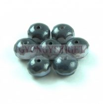 Donut - Czech Firepolished Faceted Bead - 6x9mm - Light Lavender Picasso
