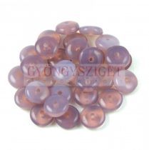Lentil - Czech Glass bead - light amethyst opal -6mm