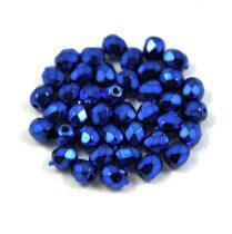 Cseh csiszolt golyó gyöngy -  higher metallic midnight blue -4mm