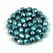 Cseh csiszolt golyó gyöngy -  Higher Metallic Turquoise - 4mm