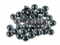 Lentil - Czech Glass bead - hematit -6mm