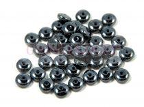 Lentil - Czech Glass bead - hematit -6mm