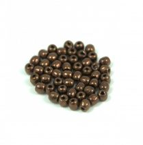 Cseh préselt golyó gyöngy - dark bronz - 2mm