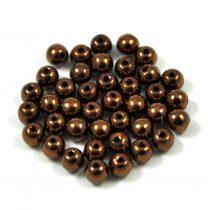 Préselt golyó gyöngy-  bronz - 4mm
