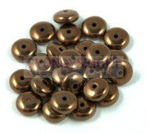 Lentil - Czech Glass bead - dark bronze -6mm