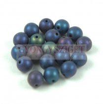 Cseh préselt golyó - Metallic Matte Iris Blue - 3mm