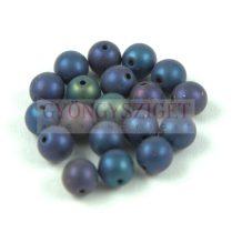 Cseh préselt golyó - Metallic Matte Iris Blue - 6mm