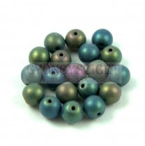 Cseh préselt golyó - Metallic Matte Iris Green - 6mm