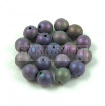 Cseh préselt golyó - Metallic Matte Purple Iris - 3mm