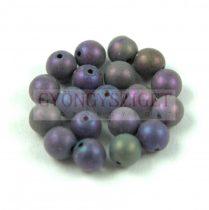 Cseh préselt golyó - Metallic Matte Purple Iris - 6mm