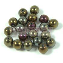 Préselt golyó gyöngy- bronz írisz-6mm