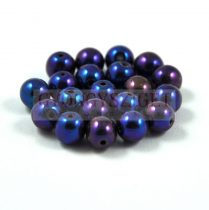 Préselt golyó gyöngy- Metallic Blue Iris - 6mm