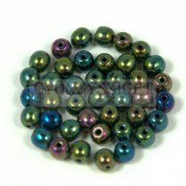 Préselt golyó gyöngy - Metallic Green Iris - 3mm