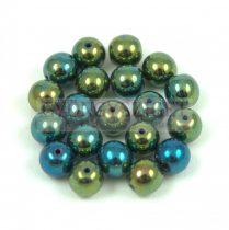 Préselt golyó gyöngy- Metallic Green Iris - 6mm