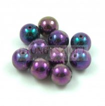 Préselt golyó gyöngy - Metallic Purple Iris - 8mm