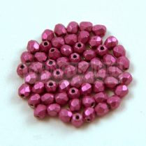 Cseh csiszolt golyó gyöngy - Saturated Metallic Pink Yarrow - 3mm