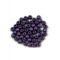 Cseh préselt golyó gyöngy - matte metallic purple - 2mm