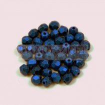 Cseh csiszolt golyó gyöngy - matte metallic blue - 3mm