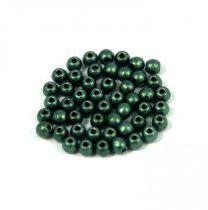Cseh préselt golyó gyöngy - matte metallic green - 2mm