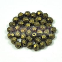 Cseh csiszolt golyó gyöngy - matte metallic green - 3mm
