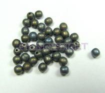 Préselt golyó gyöngy- matt bronz írisz-4mm