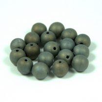 Cseh préselt golyó gyöngy – matt bronz írisz -6mm