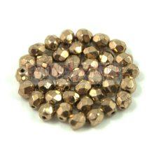 Cseh csiszolt golyó gyöngy - golden bronz-3mm