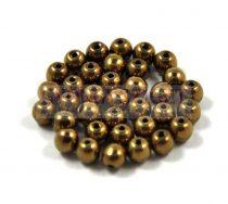Cseh préselt golyó gyöngy - golden bronz -3mm