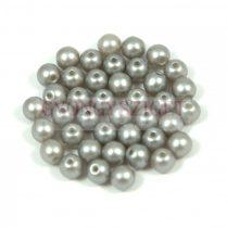 Préselt golyó gyöngy- pastel silver -4mm-p