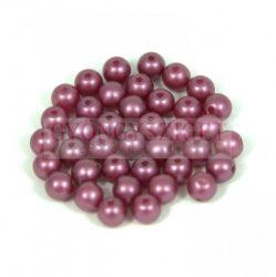 Préselt golyó gyöngy- pastel burgundy -4mm-p
