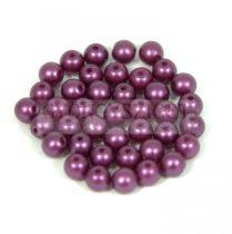Préselt golyó gyöngy- pastel deep purple -4mm-p