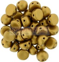 Czech Mates kétlyukú kaboson  - Matte Metallic antique Gold - 7mm