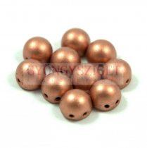 Czech Mates kétlyukú kaboson  - Matte Metallic Copper - 7mm