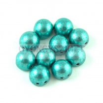 Czech Mates kétlyukú kaboson  - Saturated Metallic Teal - 7mm