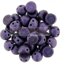 Czech Mates kétlyukú kaboson  - Matte Metallic Purple - 7mm