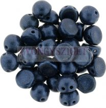 Czech Mates kétlyukú kaboson  - Matte Metallic Dark Blue - 7mm