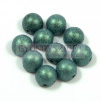 Czech Mates kétlyukú kaboson  - Matte Metallic Light Green - 7mm