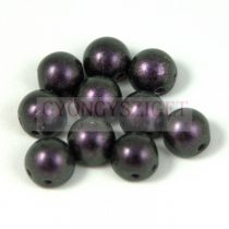 Czech Mates kétlyukú kaboson  - Polychrome Black Currant - 7mm