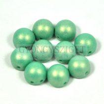 Czech Mates kétlyukú kaboson  - Sueded Gold Turquoise - 7mm