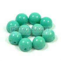 Czech Mates kétlyukú kaboson  - Turquoise Green - 7mm