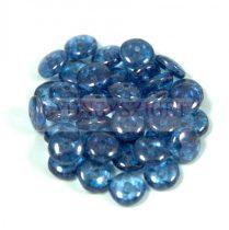 Cseh középen fúrt préselt lencse gyöngy - light sapphire blue luster -6mm