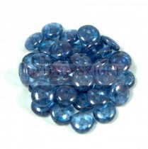 Lentil - Czech Glass bead - light sapphire blue luster -6mm