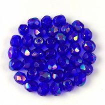 Cseh csiszolt golyó gyöngy - Sapphire Rainbow Luster - 4mm